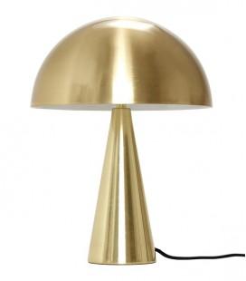 Lampe Champignon basse - Doré - 25x33