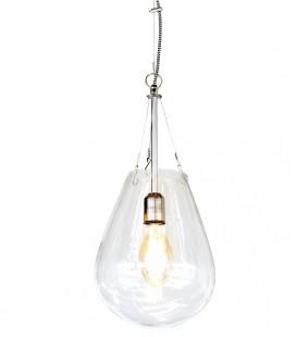 Bullia - Suspension Goutte - verre transparent - 25x53 - Pomax