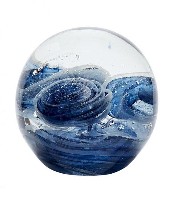 Presse-papier - boule  en verre - bleu - Hubsch