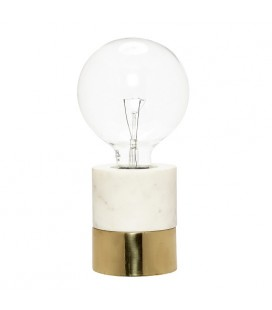 Lampe Marbre et Laiton Hübsch