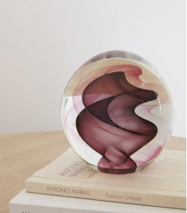 Presse-papier XL Boule Verre - Rose - Hubsch