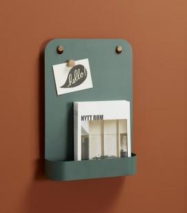 Porte-magazine - Tableau - Métal vert - Hubsch