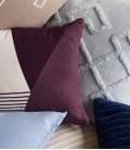 Coussin rectangle bordeaux blanc -30x50 cm