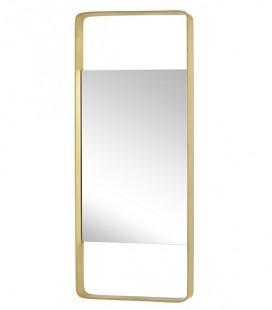 Miroir mural - cadre rectangle Laiton - 31x76 - Hubsch
