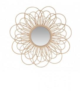 Miroir en rotin naturel – forme Fleur – 85 cm - Versmissen
