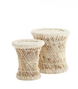 Set de 2 tabourets en bambou Madam Stoltz