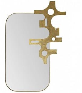 SAVAGE - Grand miroir cadre avec sculpture - Bronze – 81 x 54 cm - Versmissen