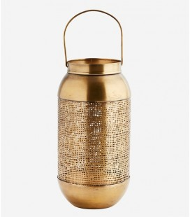Lanterne ajourée en laiton - 11x26 cm - Madam Stoltz