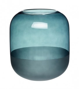 Vase Vert - Verre clair & givré - Hubsch
