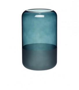 Vase Vert PM - Transparent & Givré - 12x20 cm - Hubsch
