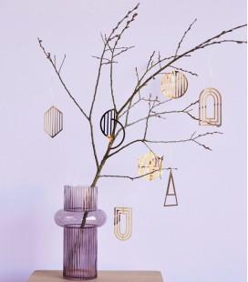 Vase Rose Strié haut - 16 x 28 - Hubsch